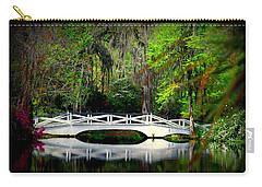 The White Bridge In Magnolia Gardens Sc Carry-all Pouch