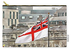 The White Ensign Flying On Hms Belfast Carry-all Pouch