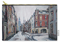The White Grand Canal Street Maastricht Carry-all Pouch by Nop Briex