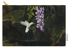 The White Hummingbird Carry-all Pouch