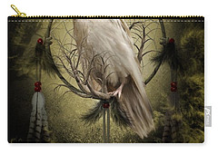 The White Raven Carry-all Pouch