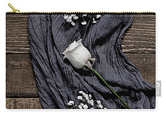 Carry-all Pouch featuring the photograph The White Rose by Kim Hojnacki