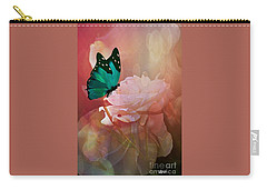 The White Rose Carry-all Pouch by Maria Urso
