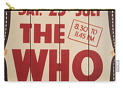 The Who 1966 Tour Poster Carry-all Pouch