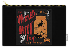 Carry-all Pouch featuring the painting The Wicked Witch Inn by Georgeta Blanaru