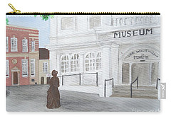 The Willis Museum Basingstoke With Jane Austen Statue Carry-all Pouch