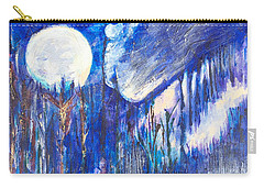 Carry-all Pouch featuring the painting The Wind Blows A Kiss To The Moon by Seth Weaver