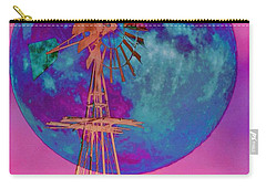 The Windmill And Moon In A Sherbet Sky Carry-all Pouch by Toma Caul