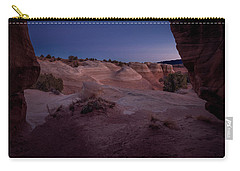 Carry-all Pouch featuring the photograph The Window In Desert by Edgars Erglis