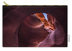 Carry-all Pouch featuring the photograph The Window Of Peekaboo by Edgars Erglis
