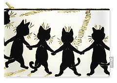 The Wink Six Black Pussy Cats Carry-all Pouch