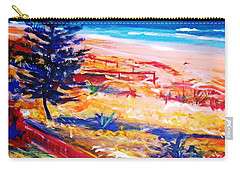 Carry-all Pouch featuring the painting The Winter Dunes by Winsome Gunning