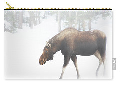 The Winter Moose Carry-all Pouch