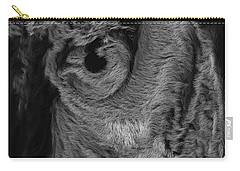 The Old Owl That Watches Blk Carry-all Pouch
