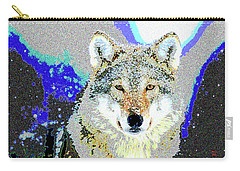 Carry-all Pouch featuring the mixed media The Wolf by Charles Shoup