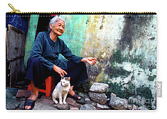 The Woman And The Cat Carry-all Pouch