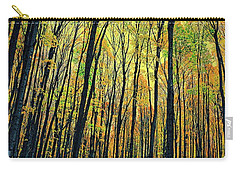 Carry-all Pouch featuring the photograph The Woods In The North by Michelle Calkins