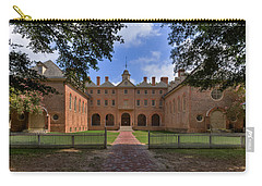 Carry-all Pouch featuring the photograph The Wren Building At William And Mary by Jerry Gammon