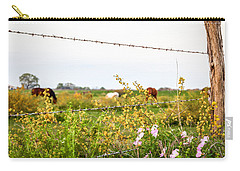 Carry-all Pouch featuring the photograph The Wrong Side Of The Fence by Melinda Ledsome