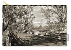 Carry-all Pouch featuring the photograph The Yards by Linda Lees