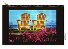 The Yellow Chairs By The Sea Carry-all Pouch