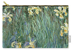 The Yellow Irises Carry-all Pouch by Claude Monet