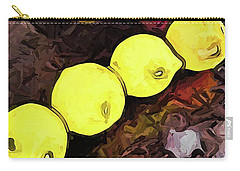The Yellow Lemons In A Row And The Pink Apple Carry-all Pouch