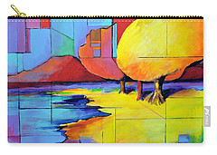 Carry-all Pouch featuring the painting The Yellow Tree by Jodie Marie Anne Richardson Traugott          aka jm-ART