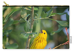 Carry-all Pouch featuring the photograph The Yellow Warbler by Bill Wakeley