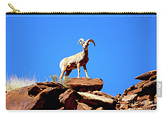 The Young Ram Reaches The Sky Line Carry-all Pouch