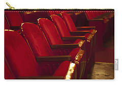 Carry-all Pouch featuring the photograph Theater Seating by Carolyn Marshall