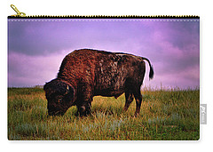 Carry-all Pouch featuring the photograph Theodore Roosevelt National Park 008 - Buffalo by George Bostian