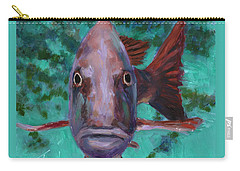 Carry-all Pouch featuring the painting There's Something Fishy Going On Here by Billie Colson