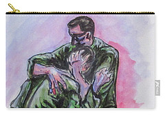 Carry-all Pouch featuring the painting They Will Never Forget by Clyde J Kell