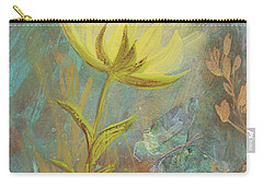 Carry-all Pouch featuring the painting Think On Good Things by Robin Maria Pedrero