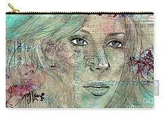 Thinking Back Carry-all Pouch by P J Lewis