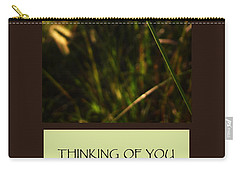 Thinking Of You Carry-all Pouch by Mary Ellen Frazee