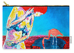 Thinking Woman Carry-all Pouch by Ana Maria Edulescu