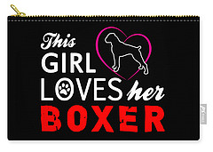 This Girl Loves Her Boxer Carry-all Pouch