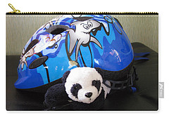 Carry-all Pouch featuring the photograph This Helmet Is So Heavy Ugh by Ausra Huntington nee Paulauskaite