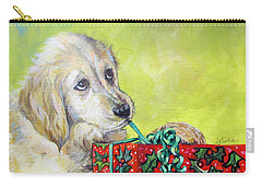 Carry-all Pouch featuring the painting This Is Mine? Right? by Donna Tucker