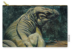Carry-all Pouch featuring the painting This Is My Good Side by Billie Colson