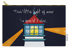 Carry-all Pouch featuring the painting This Little Light Of Mine by Glenna McRae
