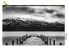 Dramatic Black And White Scene In The Argentine Patagonia Carry-all Pouch