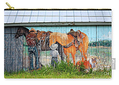 Carry-all Pouch featuring the photograph This Old Barn by Ella Kaye Dickey