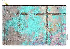 This Side Of The Cross Carry-all Pouch by Karen Kennedy Chatham