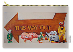 This Way Out Carry-all Pouch