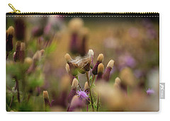 Carry-all Pouch featuring the photograph Thistle Babies by Jeremy Lavender Photography