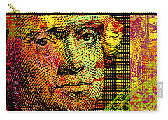 Carry-all Pouch featuring the digital art Thomas Jefferson - $2 Bill by Jean luc Comperat