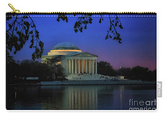 Thomas Jefferson Memorial Sunset Carry-all Pouch by Elizabeth Dow